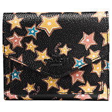 Buy Coach Small Leather Wallet, Black Stars Online at johnlewis.com