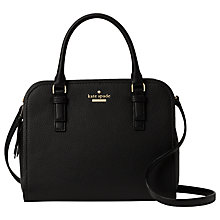 Buy kate spade new york Jackson Street Kiernan Leather Small Satchel, Black Online at johnlewis.com