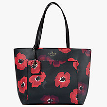 Buy kate spade new york Hyde Lane Poppies Riley Leather Small Shoulder Bag, Black Multi Online at johnlewis.com