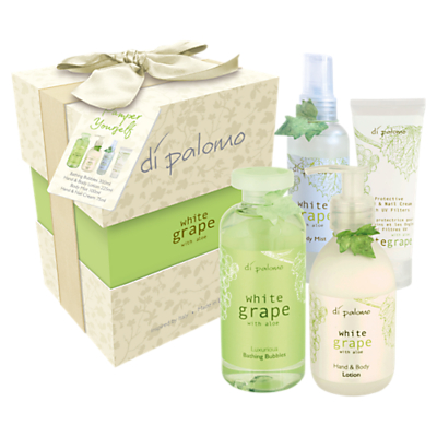 Product photo of Di palomo white grape aloe vera pamper yourself bath body set