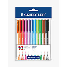Buy Staedtler Ballpoint Multi Coloured Pens, Pack of 10 Online at johnlewis.com