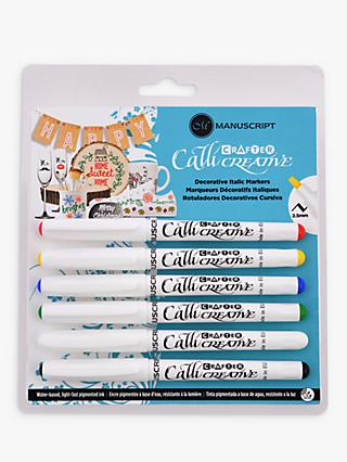 Manuscript Callicreative Calligraphy Marker Pens, Pack of 6