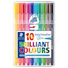 Buy Staedtler Triplus Broadliner Fine Markers, Pack of 10 Online at johnlewis.com