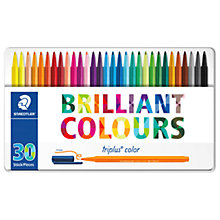 Buy Staedtler Triplus Coloured Marker Pens, Pack of 30 Online at johnlewis.com