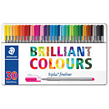 Buy Staedtler Triplus Fineliner Coloured Marker Pens, Pack of 30 Online at johnlewis.com