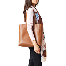 Buy Hobbs Leather Comrie Tote Bag, Tan Online at johnlewis.com