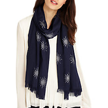 Buy Phase Eight Star Print Scarf, Navy Online at johnlewis.com
