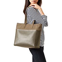 Buy Hobbs Leather Comrie Tote Bag, Olive Online at johnlewis.com