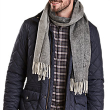 Buy Barbour Defender Logo Scarf, Grey Online at johnlewis.com