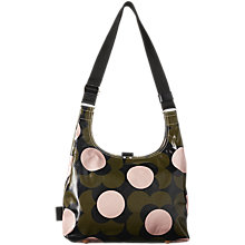 Buy Orla Kiely Shiny Laminated Shadow Flower Print Shoulder Bag, Forest Green Online at johnlewis.com