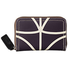 Buy Orla Kiely Classic Linear Stem Print Zip Purse, Orchid Online at johnlewis.com