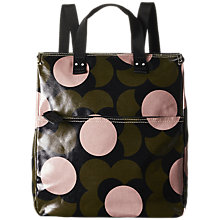Buy Orla Kiely Shiny Laminated Shadow Flower Print Backpack, Forest Green Online at johnlewis.com
