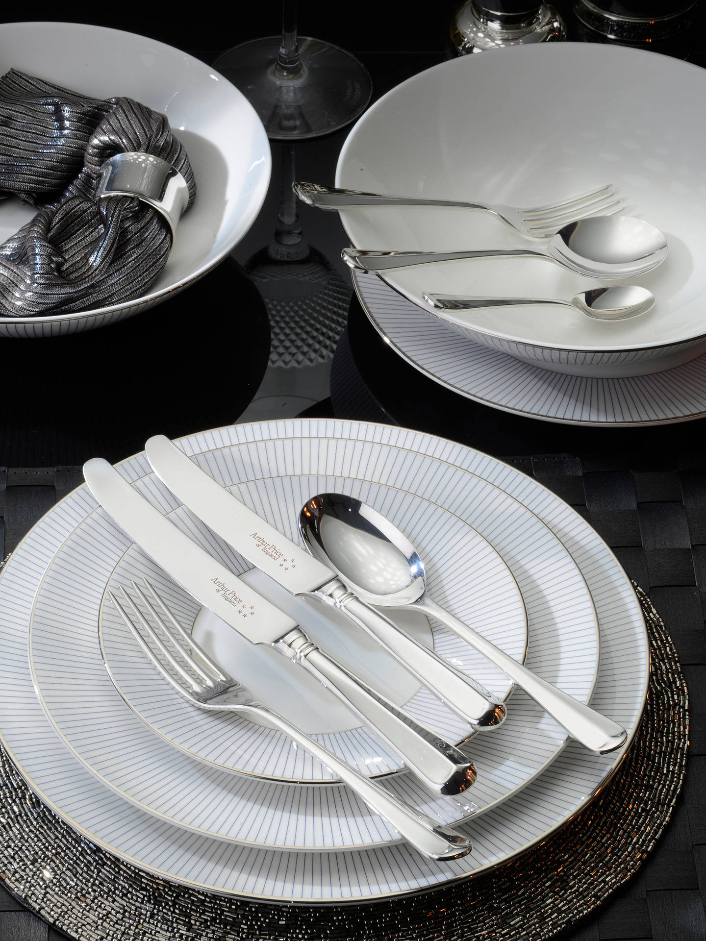 Buy Arthur Price Rattail Cutlery Canteen, Sovereign Silver Plated, 60 Piece Online at johnlewis.com