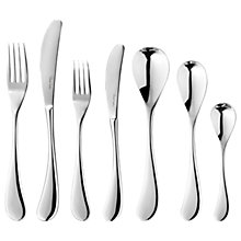 Buy Robert Welch Molton Stainless Steel Cutlery Set, Silver, 84 Pieces Online at johnlewis.com