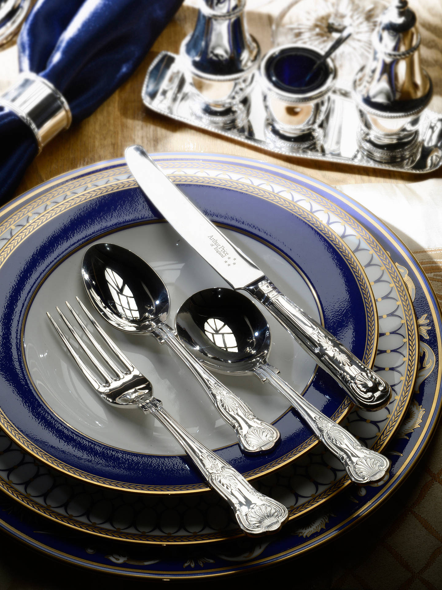 Buy Arthur Price Kings Cutlery Canteen, Sovereign Silver Plated, 44 Piece Online at johnlewis.com