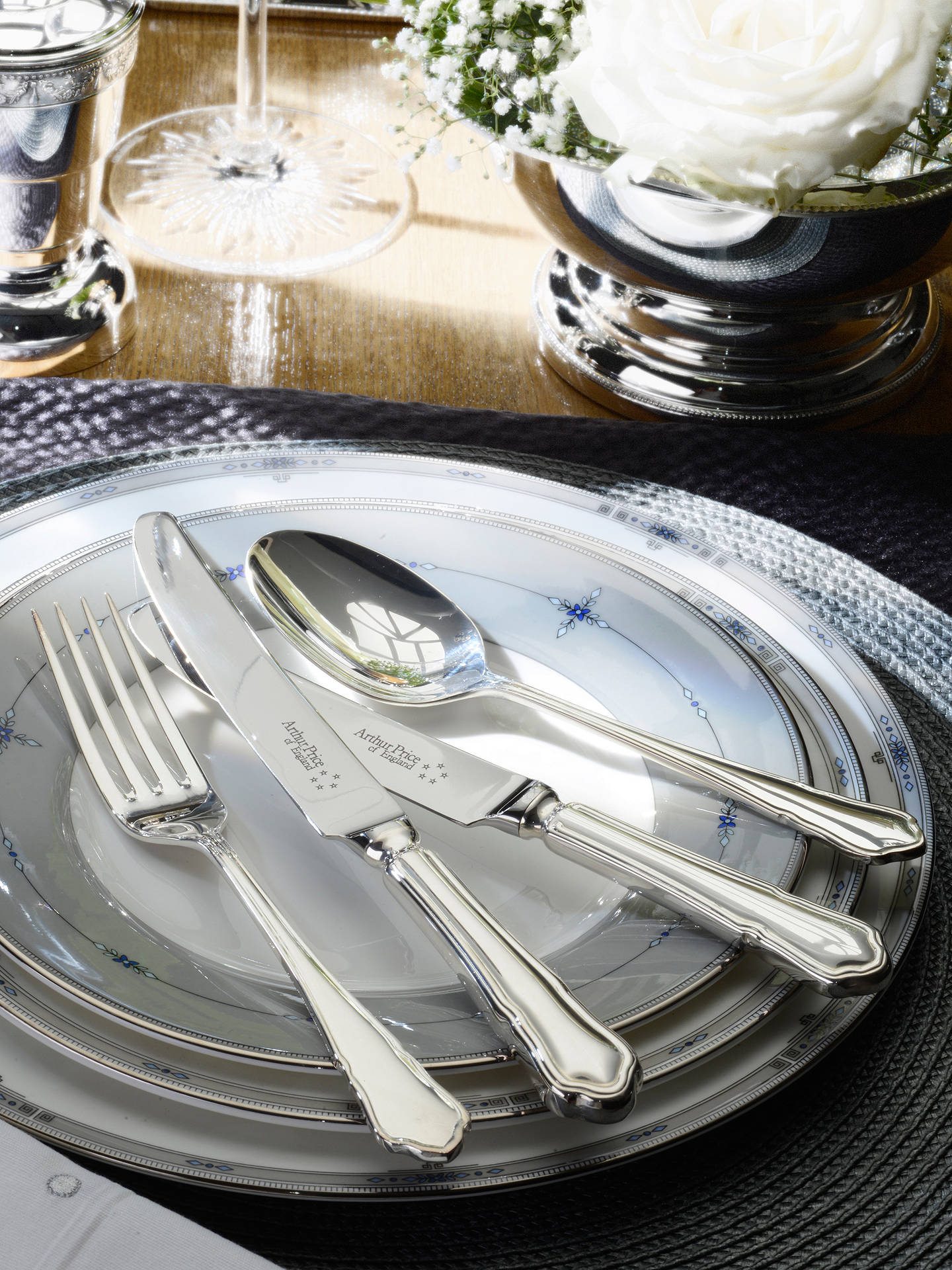 BuyArthur Price Dubarry Cutlery Canteen, Silver Plated, 84 Piece Online at johnlewis.com