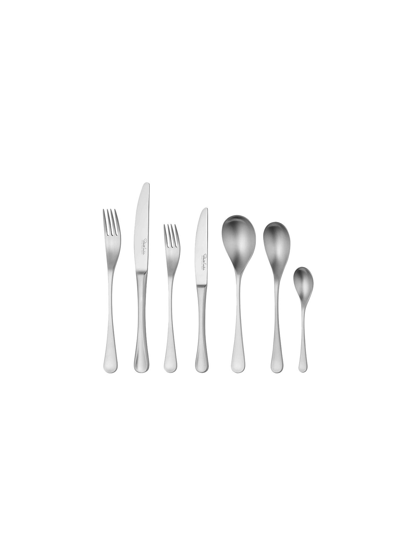 Buy Robert Welch RW2 Satin Stainless Steel Cutlery Set, 84 Piece/12 Place Settings Online at johnlewis.com