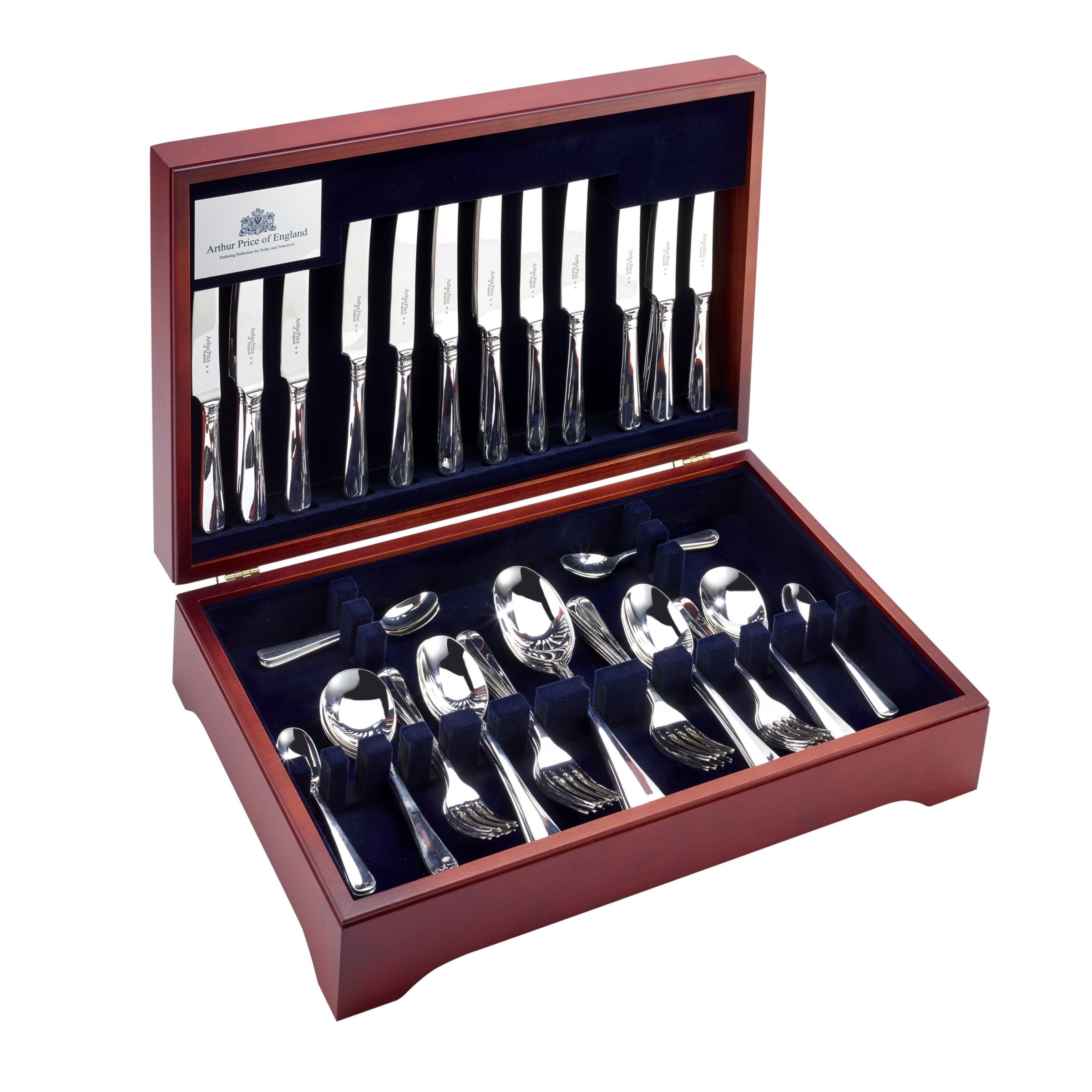 Arthur Price Arthur Price Rattail Cutlery Canteen, Sovereign Silver Plated, 84 Piece