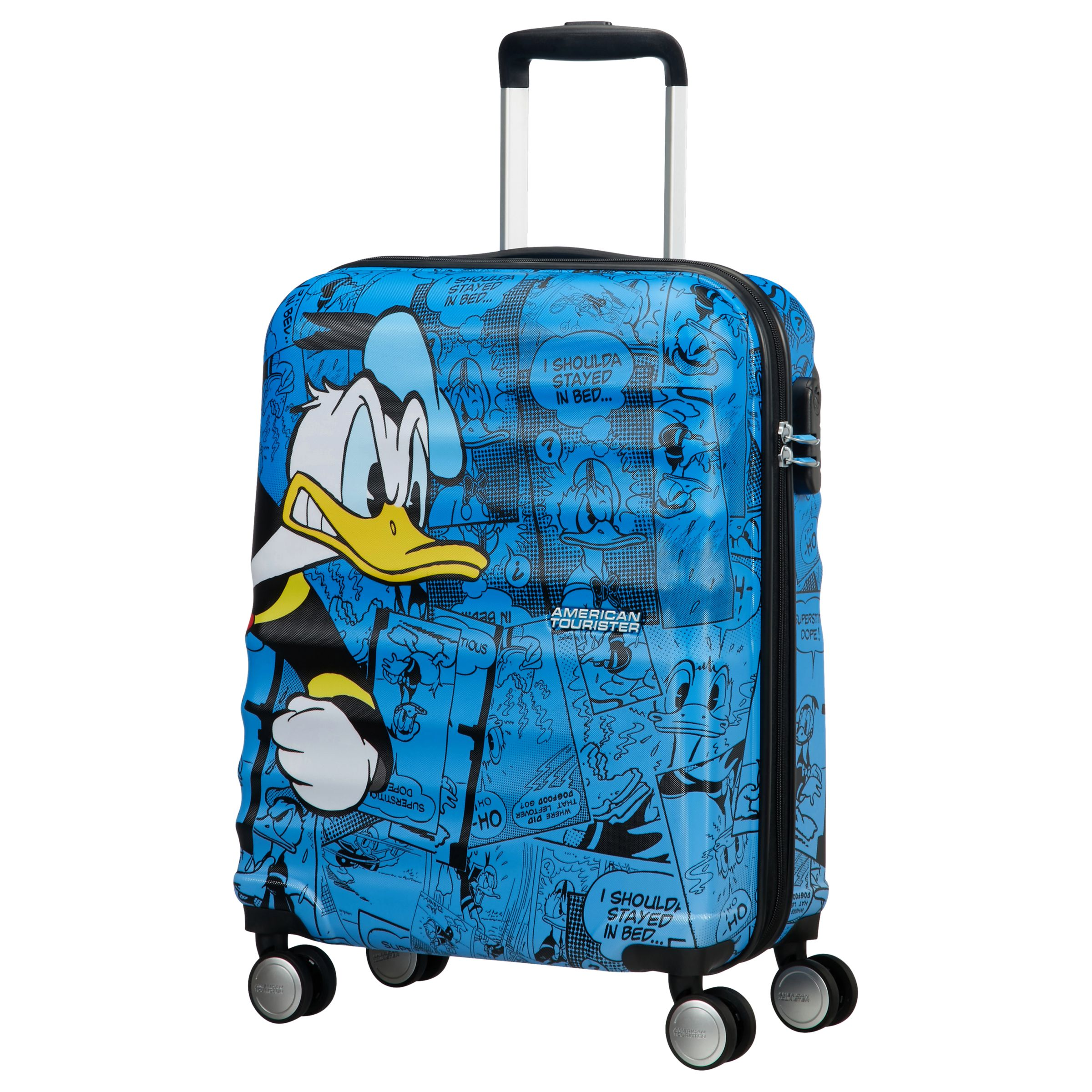 5ffa1602ad4a American Tourister Donald Duck 55cm Cabin Case, Blue at John Lewis ...
