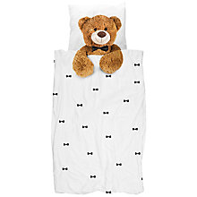 Buy Snurk Teddy Bear Duvet Cover and Pillowcase Set, Single Online at johnlewis.com
