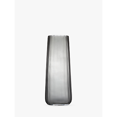 Design Project by John Lewis No.138 Tall Pleated Glass Vase, Grey