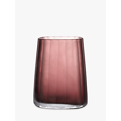 Design Project by John Lewis No.138 Wide Pleated Glass Vase, Burgundy