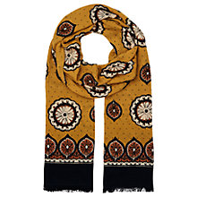 Buy Whistles Surya Border Print Scarf, Yellow/Multi Online at johnlewis.com