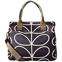 Buy Orla Kiely Matt Laminated Giant Stem Messenger Bag, Orchid Online at johnlewis.com