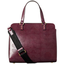 Buy Orla Kiely Punch Tall Flower Leather Jeanie Shoulder Bag, Plum Online at johnlewis.com