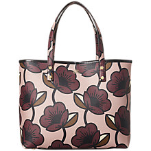 Buy Orla Kiely Passion Flower Print Tillie Leather Shoulder Bag, Aubergine Online at johnlewis.com