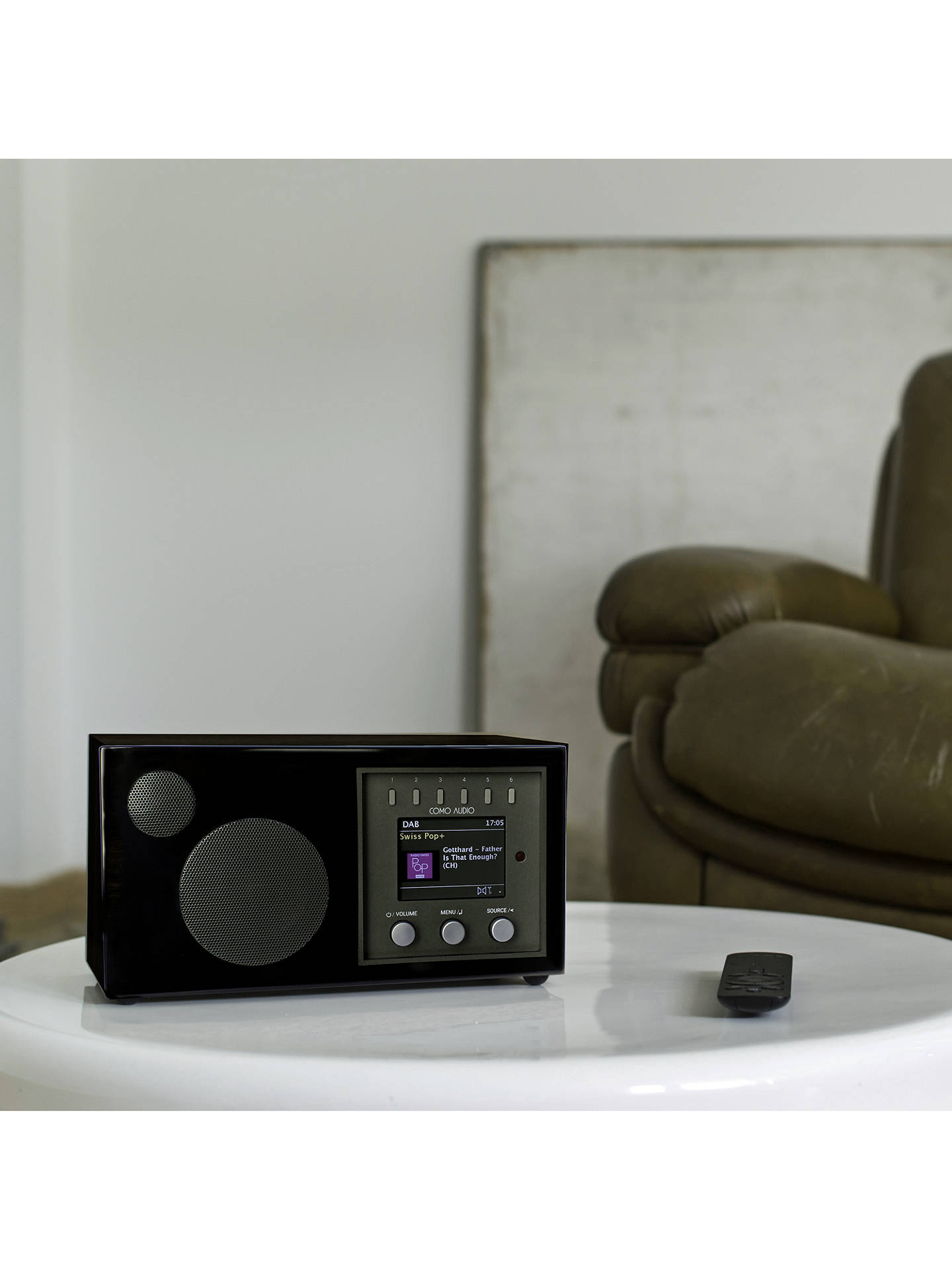 BuyComo Audio Solo DAB/DAB+/FM/Internet Radio with Wi-Fi, Bluetooth, NFC, Spotify Connect & Wireless Multiroom, Piano Black Online at johnlewis.com