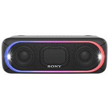 Buy Sony SRS-XB30 Extra Bass Water-Resistant Bluetooth NFC Portable Speaker with LED Ring & Strobe Lighting Online at johnlewis.com