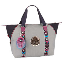 Buy Kipling Art M Travel Tote Bag, Grey/Multi Online at johnlewis.com