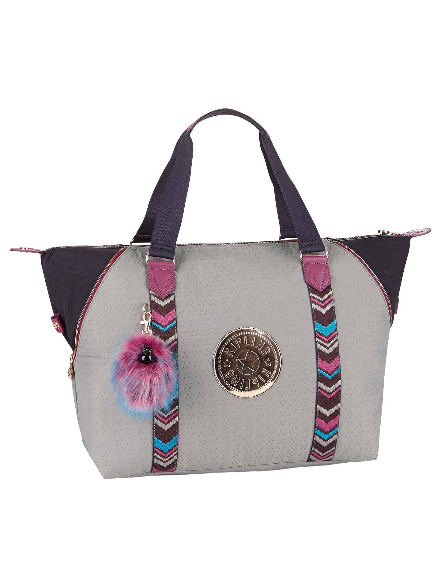 5f66e59102 Buy Kipling Art M Travel Tote Bag, Grey/Multi Online at johnlewis.com ...