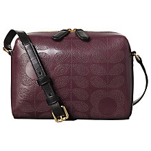 Buy Orla Kiely Punch Tall Flower Leather Abbey Cross Body Bag, Plum Online at johnlewis.com