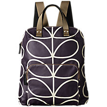 Buy Orla Kiely Matte Laminated Giant Stem Backpack, Orchid Online at johnlewis.com
