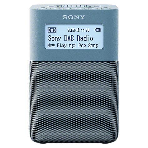 buy sony xdr v20d portable dab dab fm digital radio john lewis. Black Bedroom Furniture Sets. Home Design Ideas