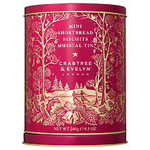 Buy Crabtree & Evelyn Mini Shortbread Biscuits Musical Tin, 240g Online at johnlewis.com