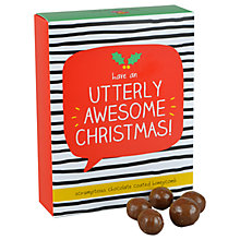Buy Happy Jackson Utterly Awesome Christmas Chocolate Coated Honeycomb, 150g Online at johnlewis.com