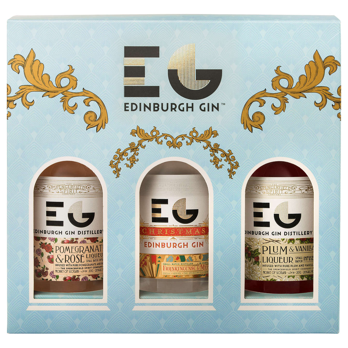 BuyEdinburgh Gin Winter Palace Christmas Liqueurs, 3x 20cl Online at johnlewis.com