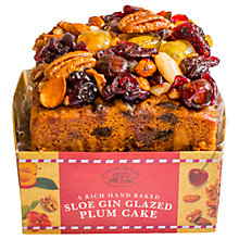 Buy Cottage Delight Sloe Gin Glazed Plum Cake, 500g Online at johnlewis.com