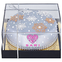 Buy Sari Cakes Blue Snowflake Cake, Large, 700g Online at johnlewis.com