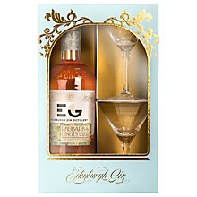 Buy Edinburgh Gin Winter Palace Rhubarb Liqueur and Cocktail Glasses Set Online at johnlewis.com