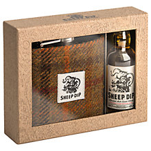 Buy Spencerfield Spirits Original Oldbury Sheep Dip Whisky Miniature and Hip Flask Set Online at johnlewis.com