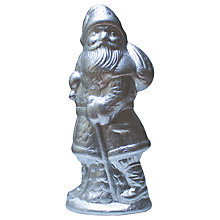 Buy The Fine Confectionery Company Large Foiled Santa, Silver, 4kg Online at johnlewis.com