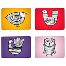 Buy Jane Foster Scandi Linea Bird Placemats, Set of 4, Assorted Online at johnlewis.com
