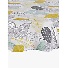 Buy John Lewis Scandi Leaves Round Wipe Clean Tablecloth, Dia.180cm Online at johnlewis.com