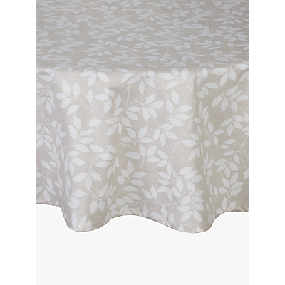 John Lewis & Partners Trailing Leaves Wipeable Round Tablecloth, Dia.180cm