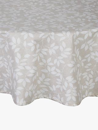 ac6ce43f0c John Lewis   Partners Trailing Leaves Wipeable Round Tablecloth