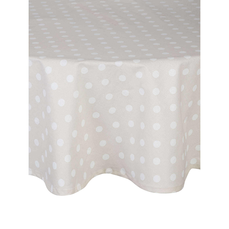 John Lewis Polka Dot Wipe Clean Round Tablecloth Dia 180cm At Johnlewis